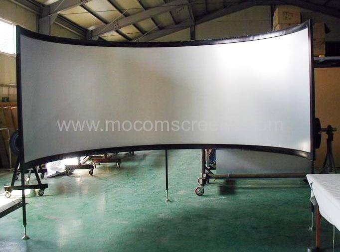 mocom hightech leinw nde curved screens for simulators. Black Bedroom Furniture Sets. Home Design Ideas
