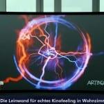 Revosoft CouchScreen Leinwand - die Leinwand für echtes Kinofelling in Wohnzimmern mit Restlicht