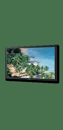 Der 42 Zoll Sanyo LCD Monitor überzeugt mit 500 cd/m² und einer FullHD Auflösung.