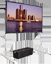 Transportable faltrahmenleinw nde fastfold f r aufprojektion und r ckprojektion fastfold - Couchscreen leinwand ...