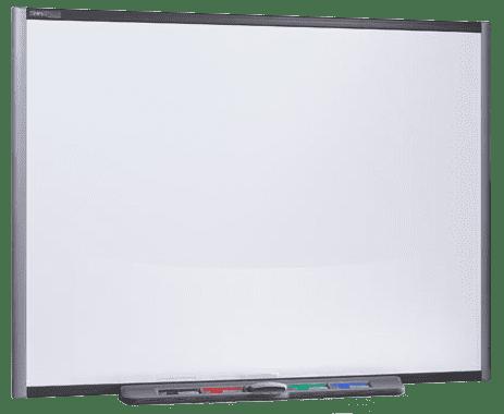 Auf dem Smartboard können interaktiv per Finger die Funktionen einer Maus ausgeführt werden, zudem per Finger oder Stift Notizen eingefügt und Objekte bewegt bzw. verschoben werden.