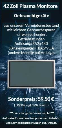 Angebot 42-Zoll-Plasma-Bildschirm