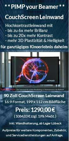 CouchScreen Leinwand 90 Zoll 16:9