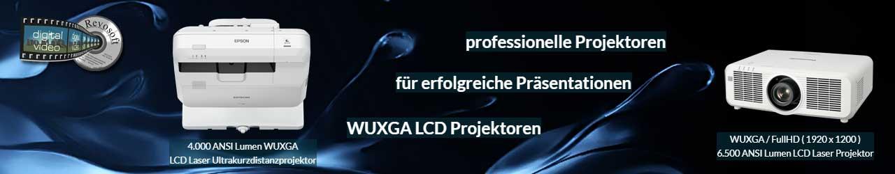 WUXGA LCD Laser Ultrakurzdistanzprojektoren und Laserprojektoren für Festinstallationen oder zur Miete