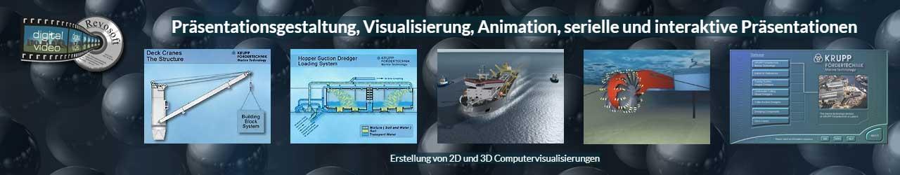 Themenbereich Mediengestaltung: Erstellen von 2D und-3D Animationen und Visualisierungen, Multimedia Programmierung Beispiele aus 2D und 3D Produktanimationen