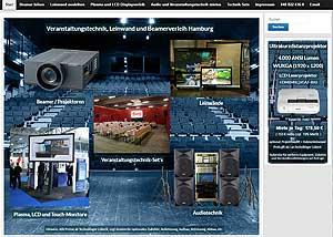 Beamer Verleih Hamburg Großbildprojektion Nahfeldprojektor Overheadprojektor